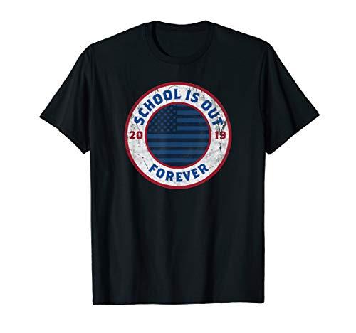 Retirement Gift School Is Out Forever Retired Teacher Tshirt - T-shirt Forever Dark Womens