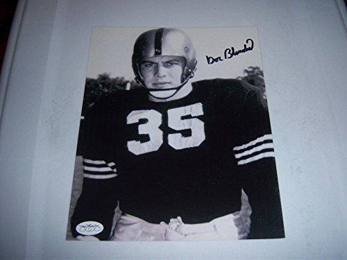 Autographed Doc Blanchard Photograph - heisman stamp 8x10 - JSA Certified - Autographed College Photos