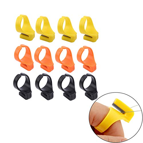 - Guoshang Finger Knife Ring ABS Quilting Thread Cutter Thimble Sewing Accessories Handcraft DIY Tool 12 Pcs
