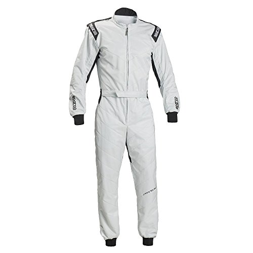 Sparco Track KS-1 Kart Racing Suit 002337 (Size: Medium, Silver) -