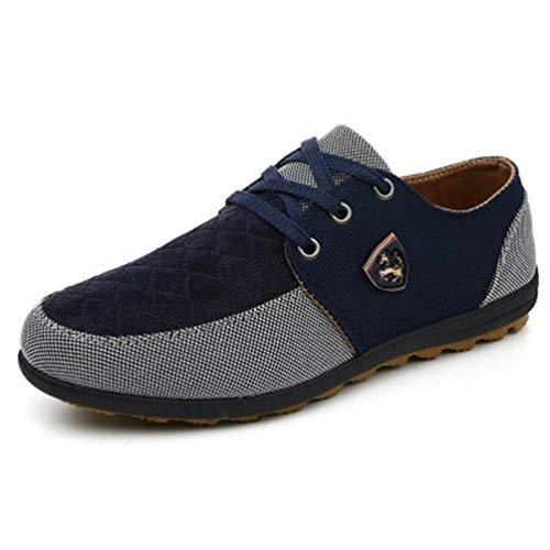 Scarpe Flats Scarpe Moda Scarpe Blu Maschio Mens Up Oxfords Stili Traspiranti Lace Casual xYBSw6