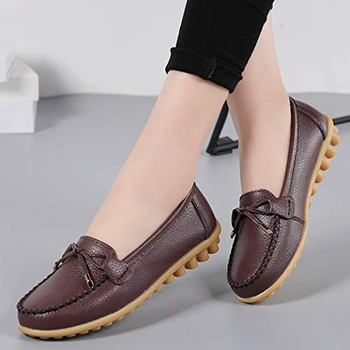 shoes from comfortable FLYRCX E non office variety to Fashion choose work colors mouth bottom ladies maternity flat slip leather soft shallow of shoes a shoes 8rgIFnwSqg