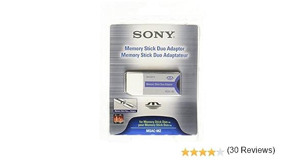 Sony MSACM2NO - Adaptador para Tarjetas de Memoria (Memory Stick Duo), Gris y Azul
