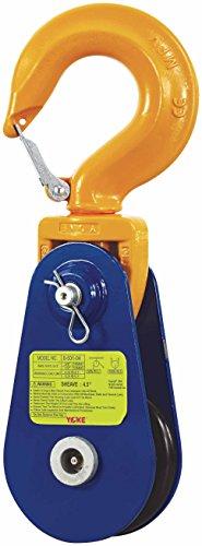 (YOKE 8-502-04 Snatch Block with Hook, 4 Tons, 4.5