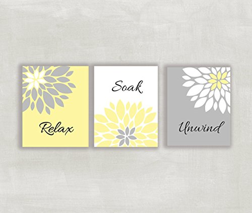 yellow and gray wall pictures - 2