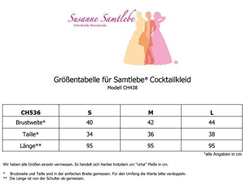 Samtlebe® - Chiffon Cocktailkleid Abendkleid - elegant knielang CH438 in Koralle Gr. S-L (34-42) Koralle IQLllVxtz