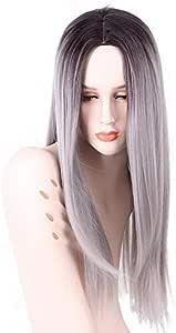 باروكة للنساء من شعر ناعم بتصميم مشابه للشعر الطبيعي وبطول 75 سم