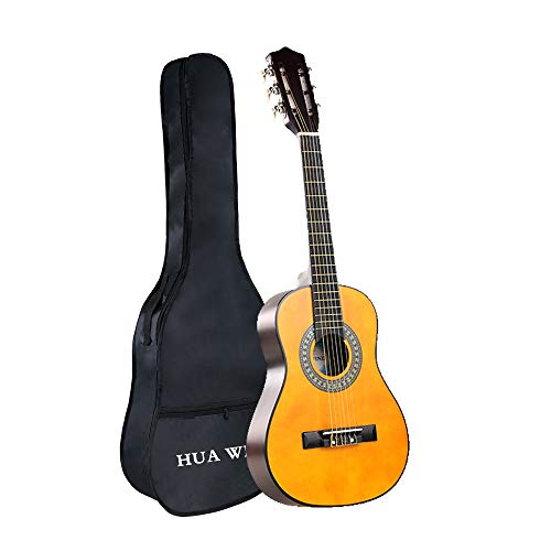 Classical Guitar, HUAWIND Nylon Strings Natural 30in 1/2 Size Acoustic Guitar with Gig Bag