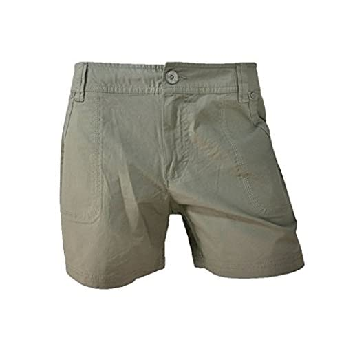 Discount DKNY Jeans Womens Utility Twill Khaki Chino Shorts for cheap