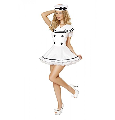 Roma Costume Women's 2 piece Sexy Sailor Maiden, White, Xx-Large -