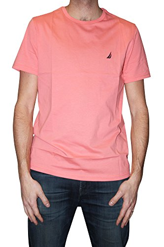 Nautica Men's Standard Short Sleeve Solid Crew Neck T-Shirt, Pale Coral, Large (Nautica Clothing Men)