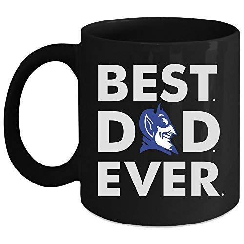 Best Dad Ever Mug, Duke Blue Devil Cup (Coffee Mug 15 Oz - Black)