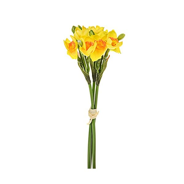 FloristryWarehouse Daffodil and Bud Artificial Posy 13 Inches Yellow