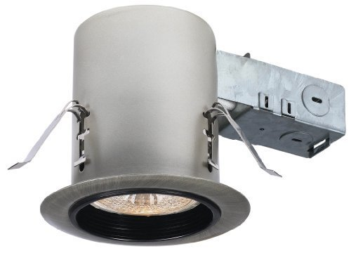 CANARM LTD. RN36RC2PP 3-1/2-Inch 1 Bulb Combo Recessed Lighting, Painted Pewter by Canarm (Combo Pewter)