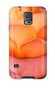 Case Cover Pretty Peach Rose / Fashionable Case For Galaxy S5