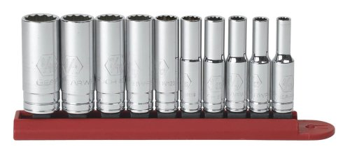 GEARWRENCH 80309 10 Piece 1/4 Drive 12 Point Deep SAE Socket Set