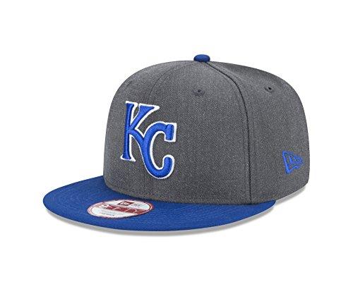 MLB Kansas City Royals Heather 9Fifty Snapback Cap, One Size, Graphite (Hats Royals City Kansas)