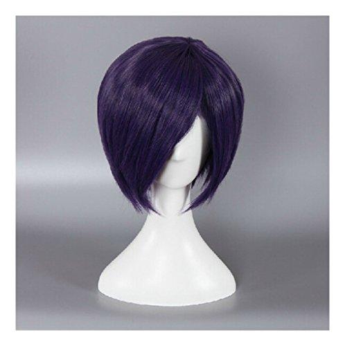 Kadiya Short Purple Synthetic Hair Anime Cosplay Wigs Synthetic (Halloween Doll Wig)