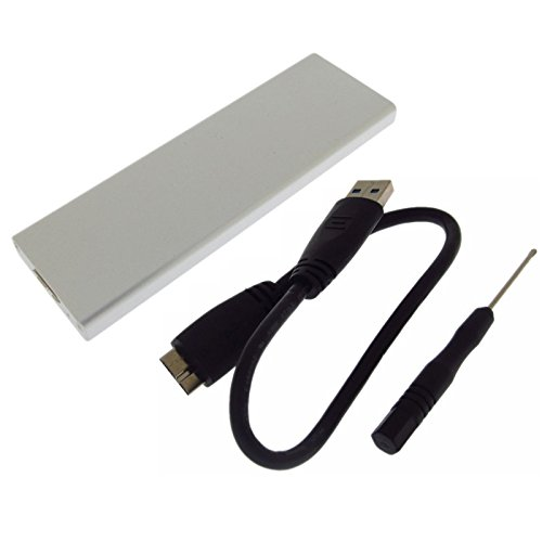 JIUWU USB 3.0 Micro B Female to 8+18 Pin Hard Disk Enclosure Case Adapter for 2012 Year Version MacBook Air A1465 A1466 SSD
