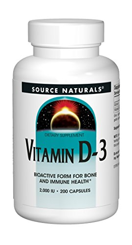 Source Naturals Vitamin D-3 2000IU - 200 Capsules (Best Source Of Vitamin D3)