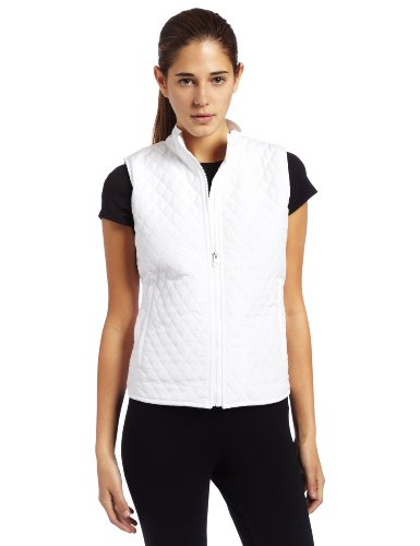 Bollé Women's Essential Quilted Tennis Vest, White, X-Small