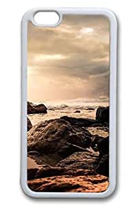 iPhone 6 Case - Rocks 9 Beautiful Scenery Pattern Rubber White Case Cover Skin For iPhone 6 (4.7 inch)