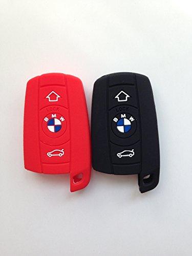 2pcs Protective Remote Fob Key Case Cover Chains Bag Key Fob Protector Key Jacket for BMW 1 3 5 Series X3 X5 X6 Z3 Z4 M5 M6 128i 135i