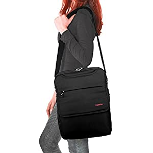 Kuprine 12-14 inch Lightweight Slim Best Laptop Backpack Convertible Black Business Travel College Macbook Computer Backpack for Laptops