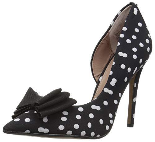 - Betsey Johnson Women's Prince-P Pump, Black/White Polka dot, 8.5 M US
