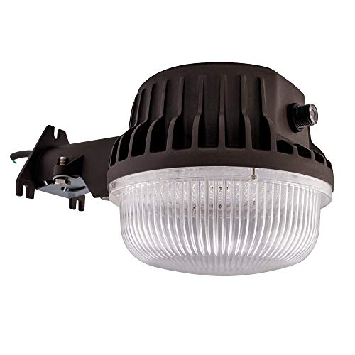 LED Area Light 55 Watts Dusk to Dawn Photocell Included, 5000K Daylight, 6600LM, Perfect Yard Light or Barn Light, ETL Listed, 550W Incandescent or 150W HID Light Equivalent, 5-Year Warranty
