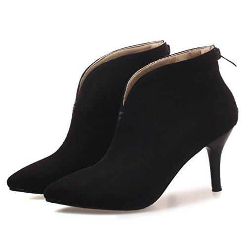 Black Women Boots Dress KemeKiss Slip On RxAZx8Xq