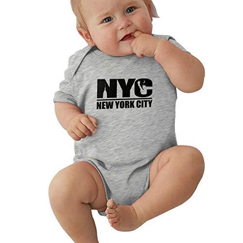 Unisex Baby Short Sleeve Bodysuits New York City Funny Summer Boys Girls Onesies Gray -