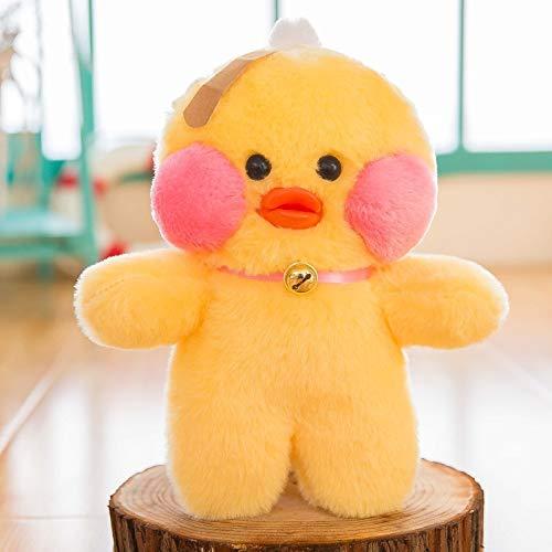 Happ trix LALAFANFAN Cute lalafanfan Cafe Mimi Kawaii Yellow Duck Stuffed Plush Toy Fashion Doll Pillow hyaluronic Acid Blush Birthday Wedding Gift 26cm -