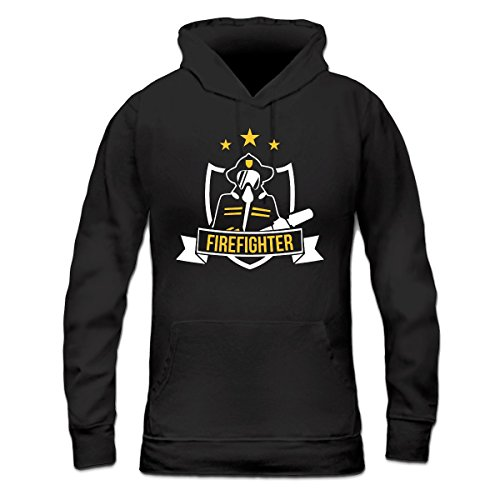 Sudadera con capucha de mujer Firefighter Mask by Shirtcity Negro