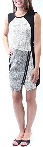 Rachel Roy $139 Womens New 5406 Black Textured Jewel Neck Body Con Dress 0 B+B