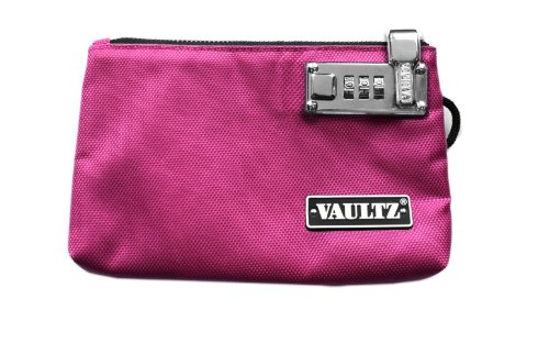 Vaultz Locking Zipper Pouch, 5 x 8 Inches, Pink (VZ00471)