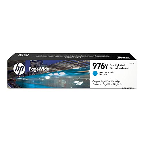 HP 976Y Cyan Extra High Yield Original PageWide Cartridge (L0R05A) for HP PageWide Pro 552dw 577dw 577z