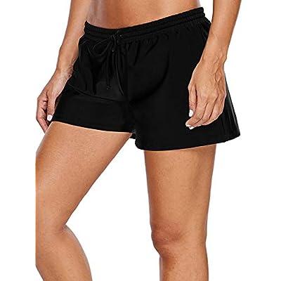 WILLBOND Women Swimsuit Shorts Tankini Swim Briefs Side Split Plus Size Bottom Boardshort Summer Beach Swimwear Trunks at Women's Clothing store