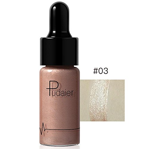 Doinshop Highlighter Liquid Make Up 12 Colors Concealer Shimmer Face Glow Cream (C)