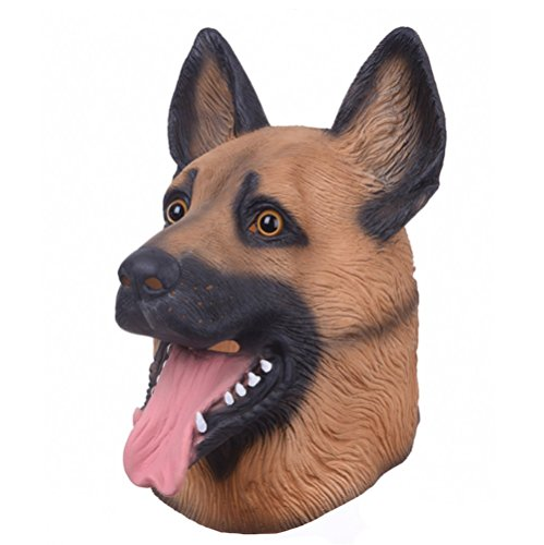Animal Dog Head Latex Mask Full Face Head Party Mask (Dead Zebra Halloween Costume)