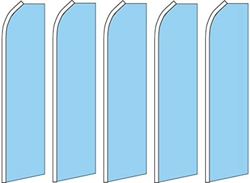 5 Swooper Flutter Feather Flags SOLID LIGHT BLUE
