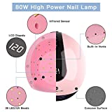 80W UV Nail Lamp, DIOZO High Power Nail