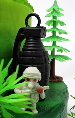 Battle Crusade Survival Royale Gaming Themed Cake Topper with Battle Figures and Resource Themed Accessories by Cake Toppers (Image #5)