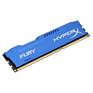 Kingston HyperX Fury 4GB 1333MHz DDR3 CL9 DIMM - Blue (HX313C9F/4) 41ogD7%2BEiaL. SS300