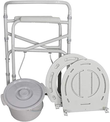 高齢者障害者の患者のための調節可能なポータブル身長ベッドサイド便器シートチェア多機能シャワーチェア在宅ケアトイレ議長は、妊婦の祖父母