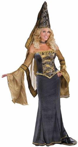 Forum Novelties Women's Designer Collection Deluxe Medieval Maiden Costume, Multi, Small (Renaissance Skirt & Hat)