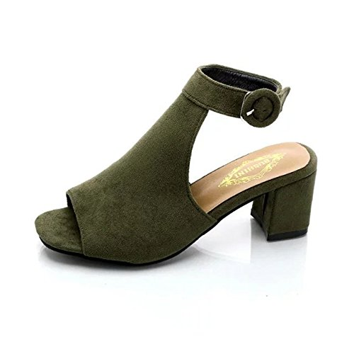 rough high Thick shoes women's shoes fish heel Thirty heel out mouth six comfortable and Dony hollowed shoes Yw8pSqw
