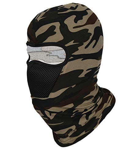 FabSeasons Unisex-Adult Camouflage Polyester Multi Functional Pollution and Face Mask, Balaclava, Neck Warmer Ninja Mask…