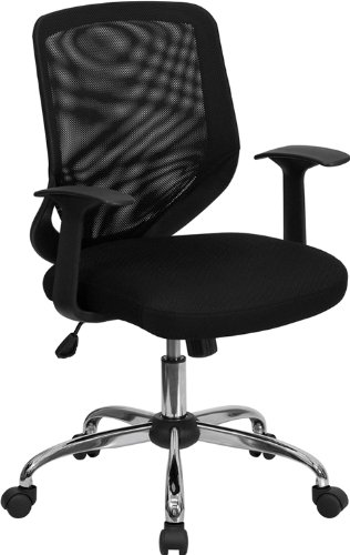 Flash Furniture Mid-Back Black Mesh Swivel Task Chair with Arms Review