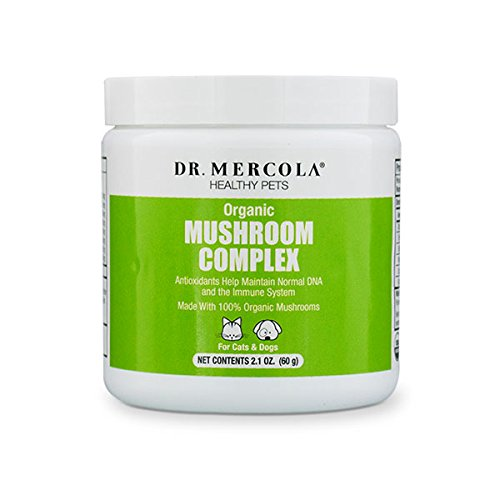 Dr Mercola Organic Mushroom Complex For Pets - Packed With Protein/Whole Foods - Helps Maintain Immune Function/Normal DNA - Premium Pet Care Supplement